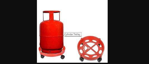 Portable Lpg Gas Cylinder Plastic Trolley