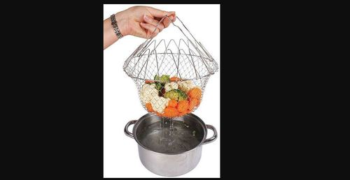 Stainless Steel Deep Frying Chef Basket