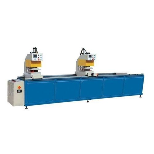 Blue And White Double Head Welding Machine