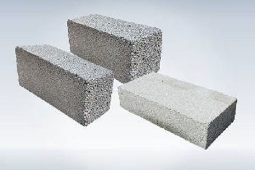 Gray Plain Solid Concrete Block