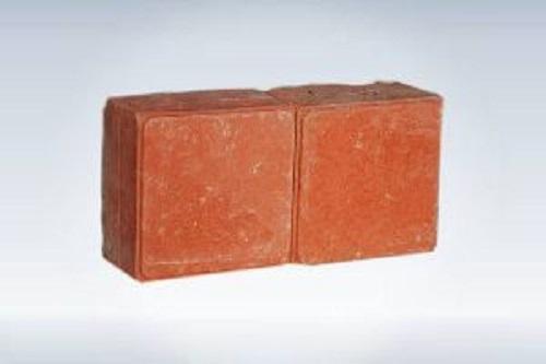 Red Plain Square Paver Block
