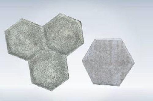 Gray Plain Trihex Paver Block