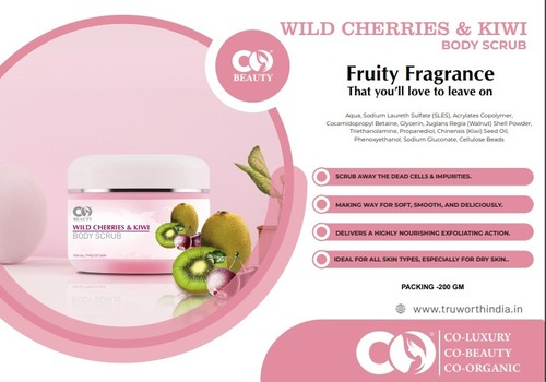 Co Beauty Wild Cherries And Kiwi Body Scrub