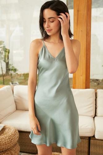 V Neck Mulberry Silk Dresses For Women