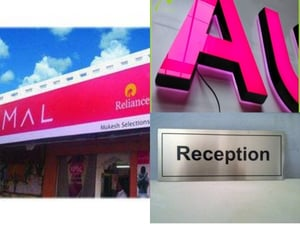 Acrylic LED Letter Sign Board