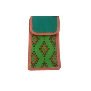 Printed Jute Mobile Pouch
