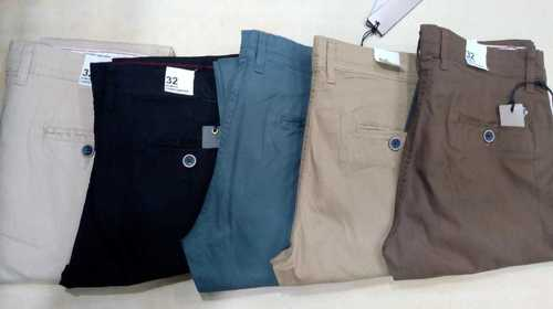 Branded Chinos Trousers With Bill