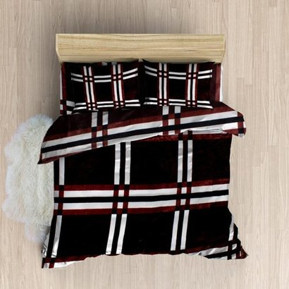 Shrink Resistant Printed Woolen Bedsheets With Pillow Cover