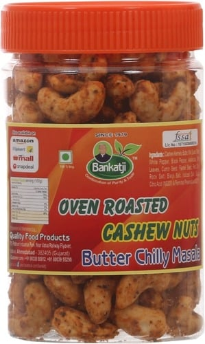 Bankatji Oven Roasted Cashew Nut With Butter Chilly Masala