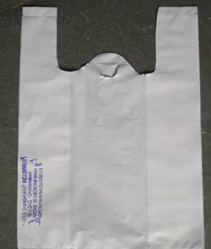 White Color Plastic Carry Bags For Shopping