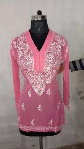 Women Chikan Embroidered Top