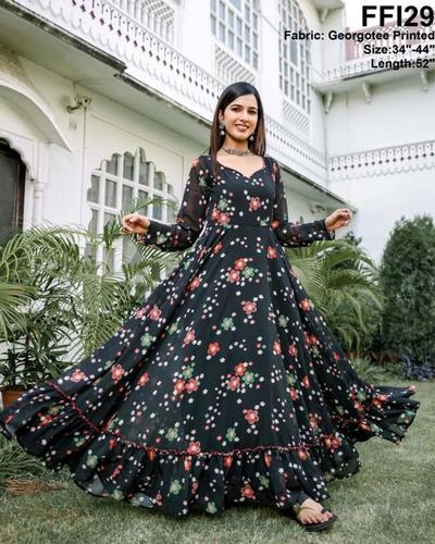 Comfort To Wear Anarkali Gown