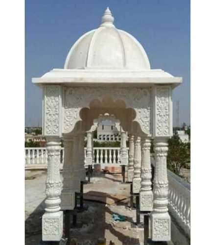 Off White Frp Temple Sculpture