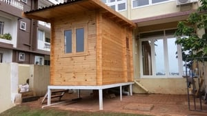 Fine Finished Wooden Security Cabin