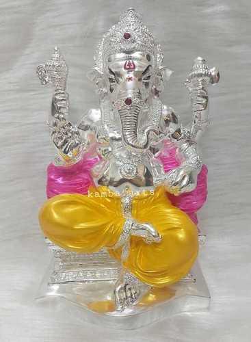 Silver Plated Lord Ganpati Idol