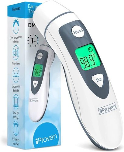 iProven DMT-489 Non Contact Forehead And Ear Thermometer For Adults, Kids And Baby