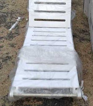 White Swimming Pool Loungers