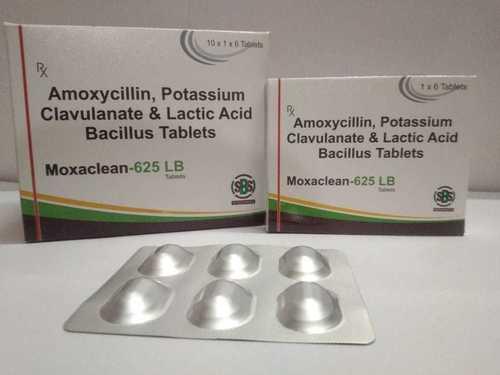 Amoxicillin & Clavulanate Potassium & Lactic Acid Bacillus Tablet