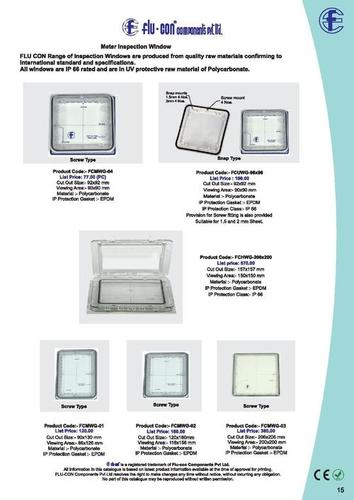 Polycarbonate Meter Inspection Window