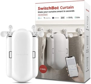 SwitchBot Curtain Smart Electric Motor With Wireless App Or Automate Timer Control