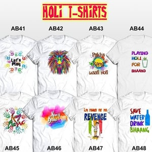 100% Polyester Sublimation T-Shirts for Holi