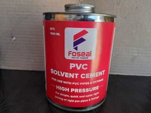 PVC Solvent Cement For Use With PVC Pipe And Fitting