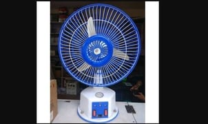 12VDC Solar Charge Table Fan