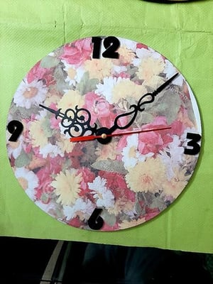Sublimation Glass Personalized Wall Clock