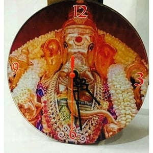 Sublimation Glass Round Wall Clock