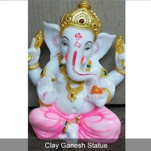 Lord Ganesh Clay Statue