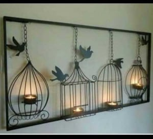 Wall Frame Candle Holders