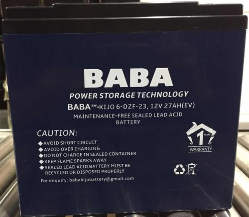 Baba Electric Scooter 12v Smf Vrla Battery