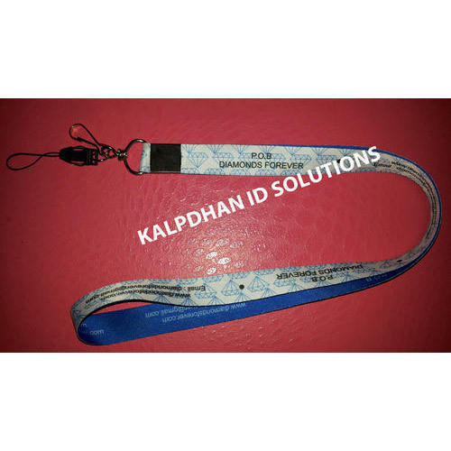 Mobile Clip Attachment Printed Lanyard