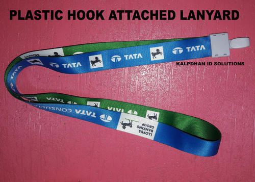 Plastic Hook Attached Printed Lanyard