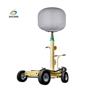 Mobile Portable LED Inflatable Balloon With Hand Push Light Tower