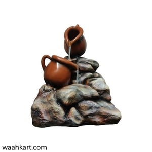 Brown Kettle and Rock Fountain