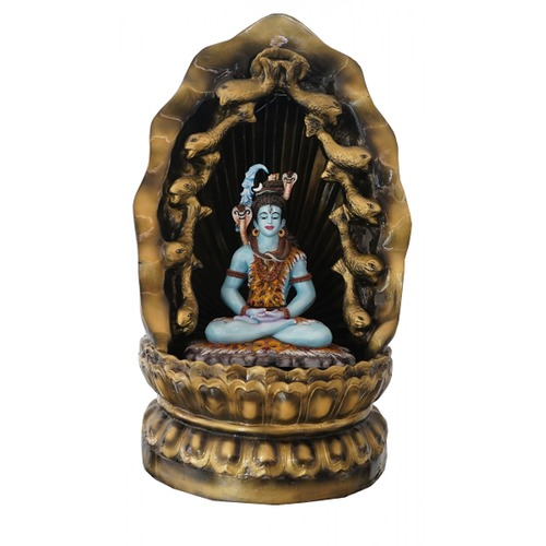 Attractive Bholenath Statue With Waterfall And Led Light