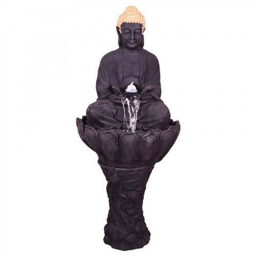 Buddha Statue With Lotus Base - Fountain