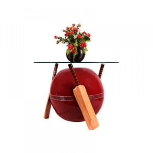 Cricket Bat and Bowl Shape Center Table (Without Glass)