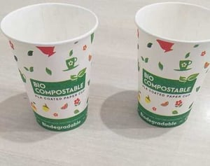 Round Biodegradable Printed Cup