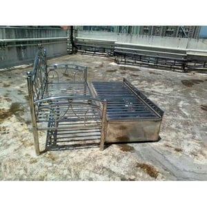 Stainless Steel Sofa Com Bed