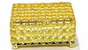 Durable Crystal Jewelry Box
