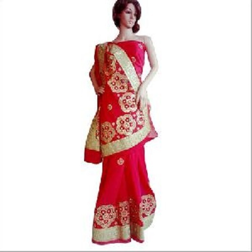 Embroidered Gota Patti Saree
