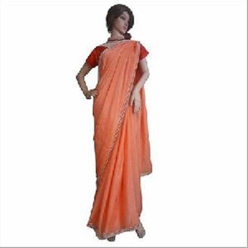 Plain Designer Handwork Saree