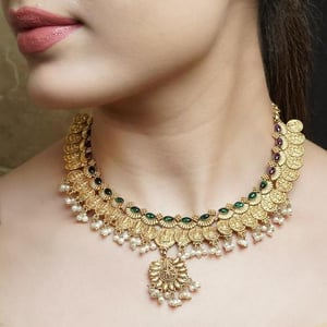 Traditional 24K Gold Plated Silver Necklace