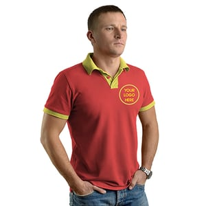 Corporate Collar Polo T Shirt With Logo Print Or Embroidery