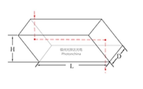 Rhomboid Prism With 90% Clear Aperture