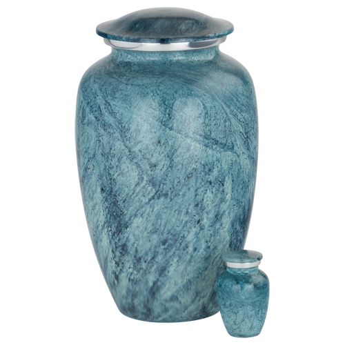 Enamel Finish Aluminum Cremation Urn