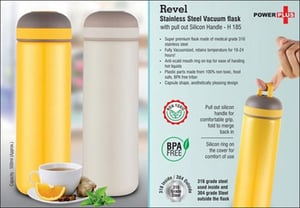 Revel Stainless Steel Vacuum Flask With Pull Out Silicon Handle