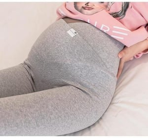 Pregnant Lady Essentials Soft Cotton Over Belly Maternity Leggings
